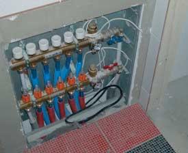 Podlahové vytápění rozdělovač