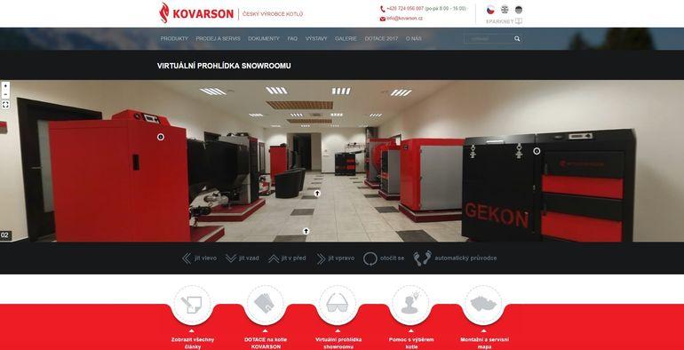 Obr.: Vstupte do virtuální prohlídky showroomu anabízených kotlů