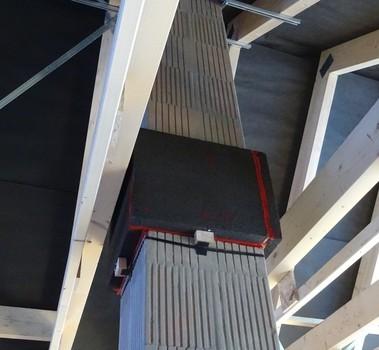 Instalace bezpečného prostupu CIKO Stoper na cihelném komíně